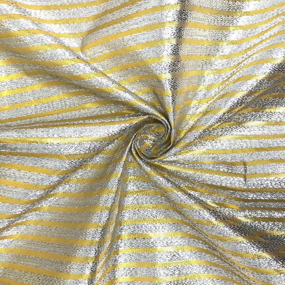 "Metallic Foil Striped Brocade (56"")"