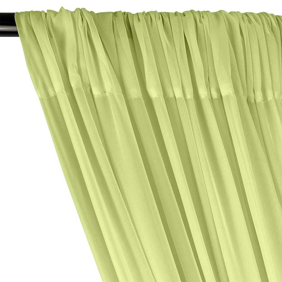 Polyester Chiffon Rod Pocket Curtains - Mint Green