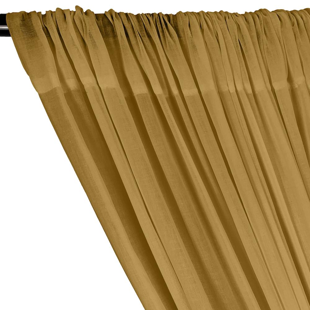 Cotton Voile Rod Pocket Curtains - Mist Gold