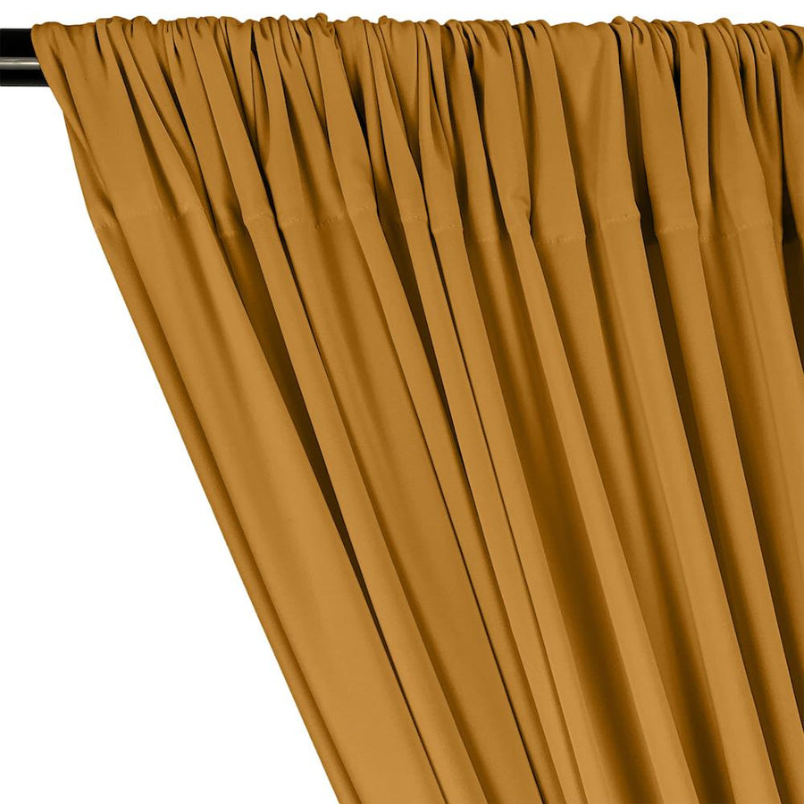 ITY Knit Stretch Jersey Rod Pocket Curtains - Mist Gold