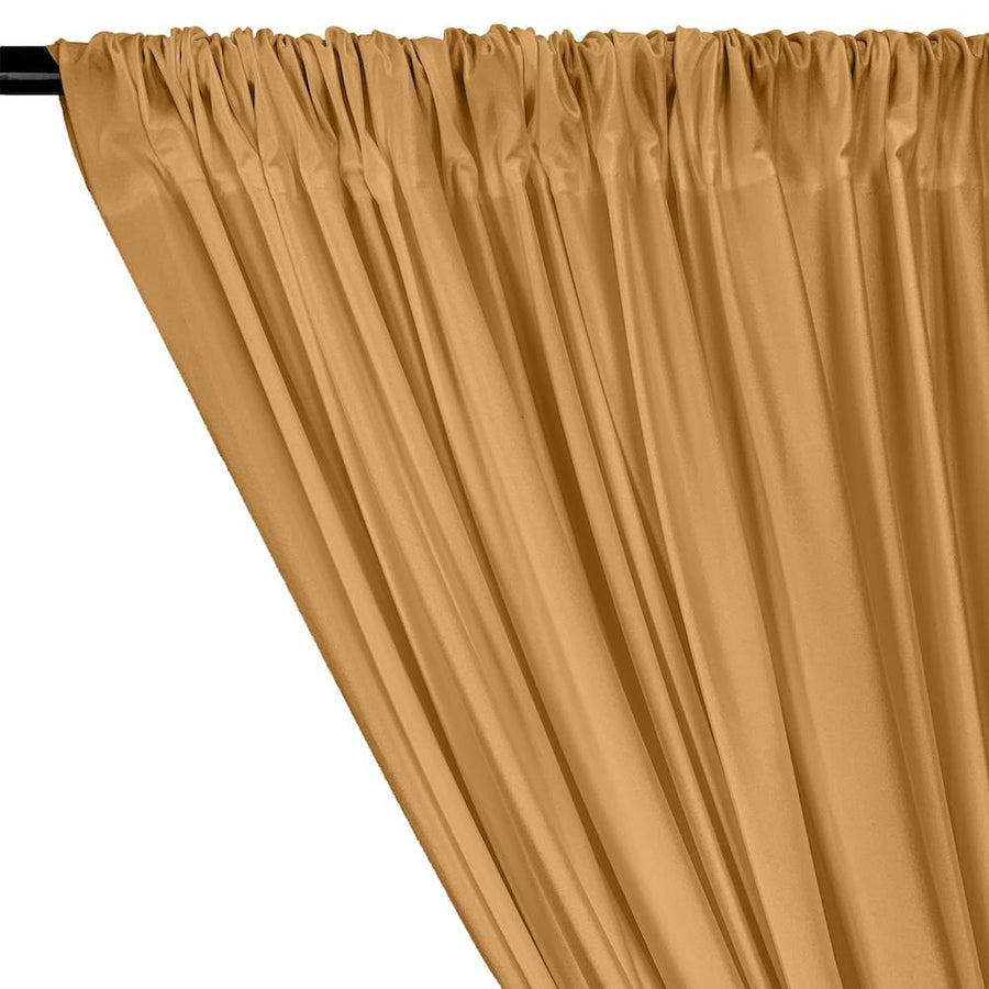 Shiny Milliskin Rod Pocket Curtains - Mist Gold