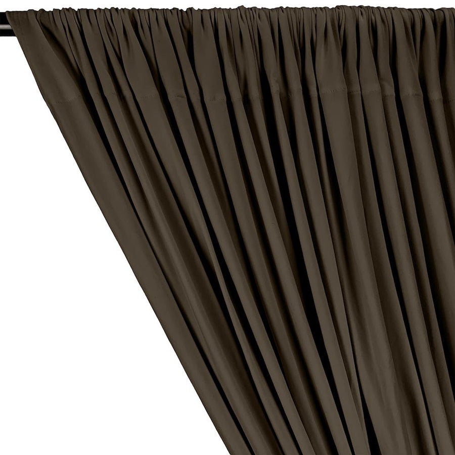 DTY Double-Sided Brushed Rod Pocket Curtains - Mocha