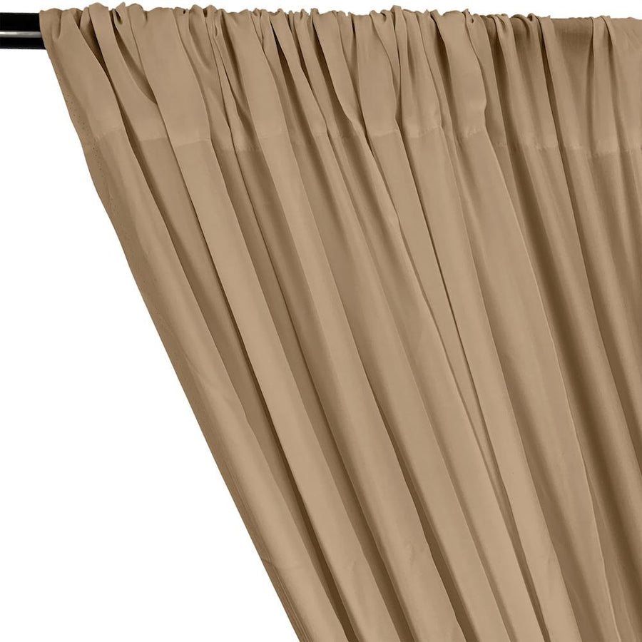 Rayon Challis Rod Pocket Curtains - Mocha