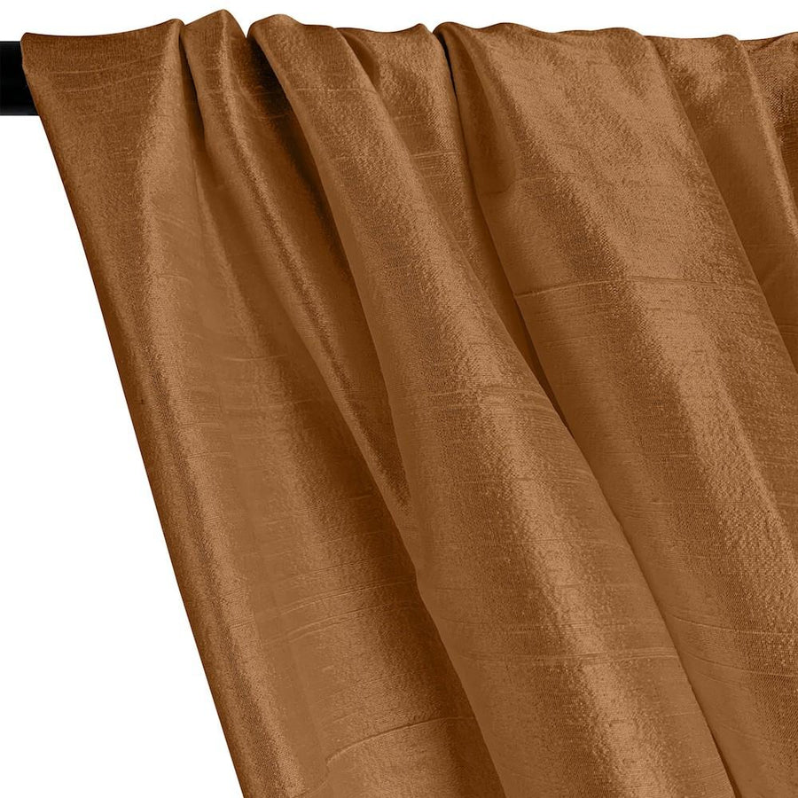 "Silk Dupioni (54"") Rod Pocket Curtains - Mocha"