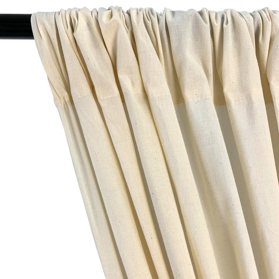 Natural Muslin Unbleached Rod Pocket Curtains
