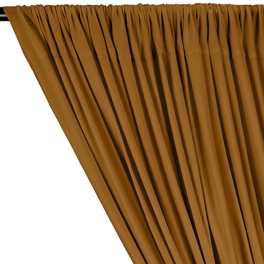 DTY Double-Sided Brushed Rod Pocket Curtains - Mustard