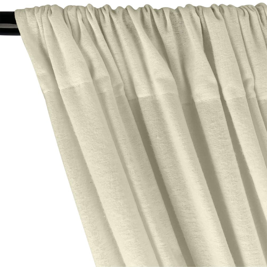 Cotton Flannel Rod Pocket Curtains - Natural