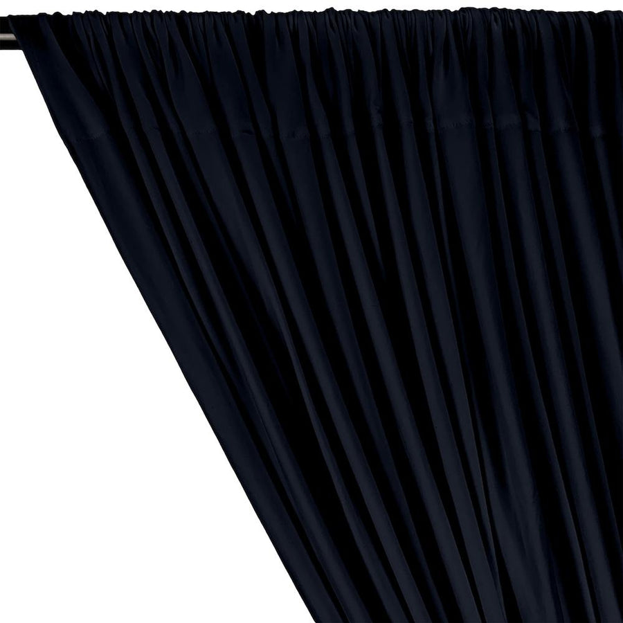 DTY Double-Sided Brushed Rod Pocket Curtains - Navy Blue