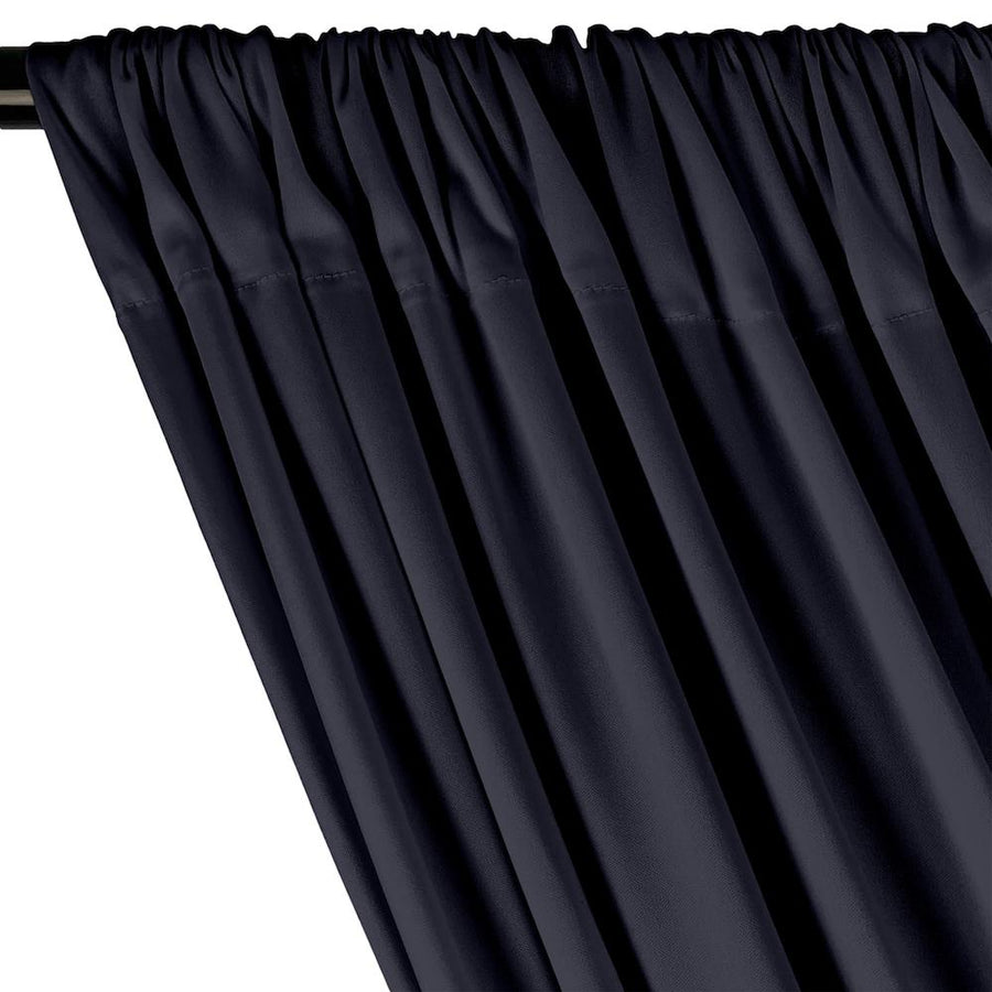 Interlock Knit Rod Pocket Curtains - Navy