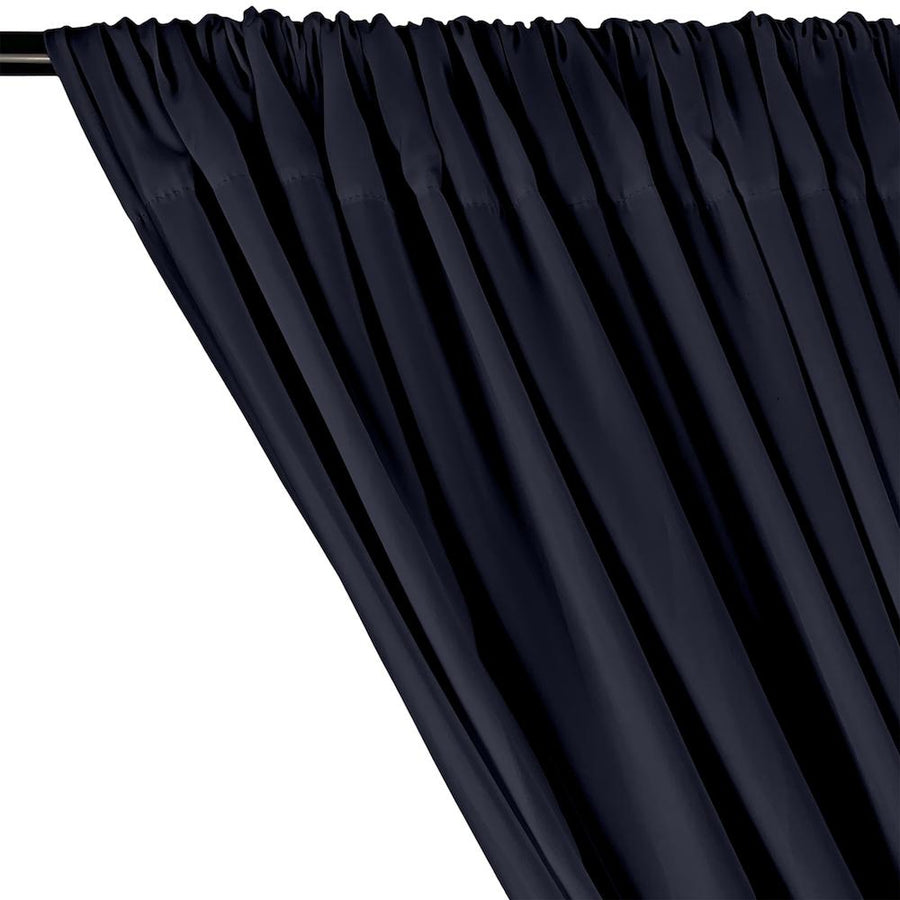 Peachskin Rod Pocket Curtains - Navy