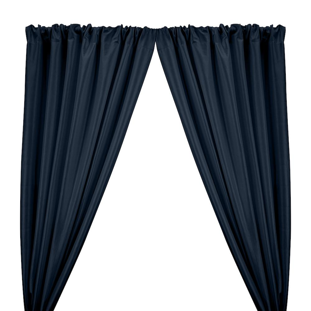 Stretch Taffeta Rod Pocket Curtains - Navy