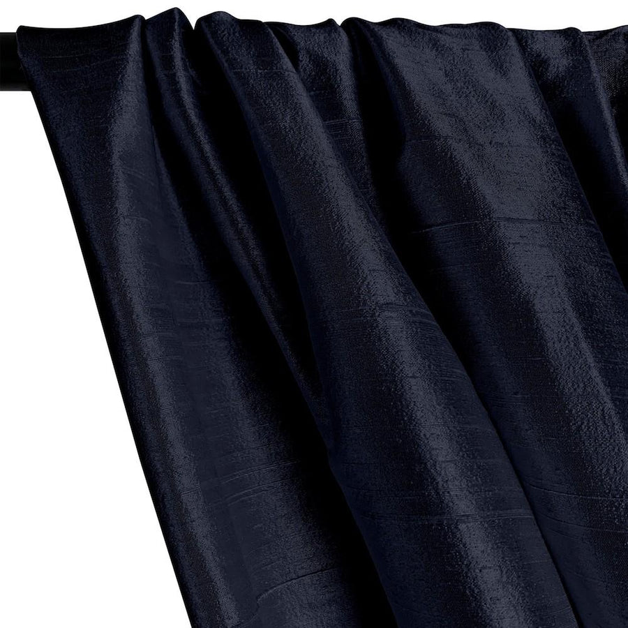 "Silk Dupioni (54"") Rod Pocket Curtains - Navy"