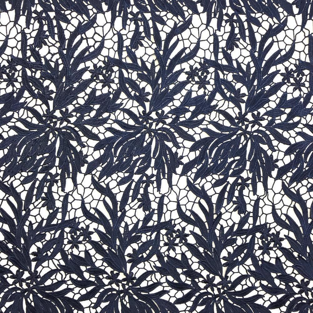Navy Blue Zahara Guipure French Venice Lace Embroidery 52 inches wide many colors