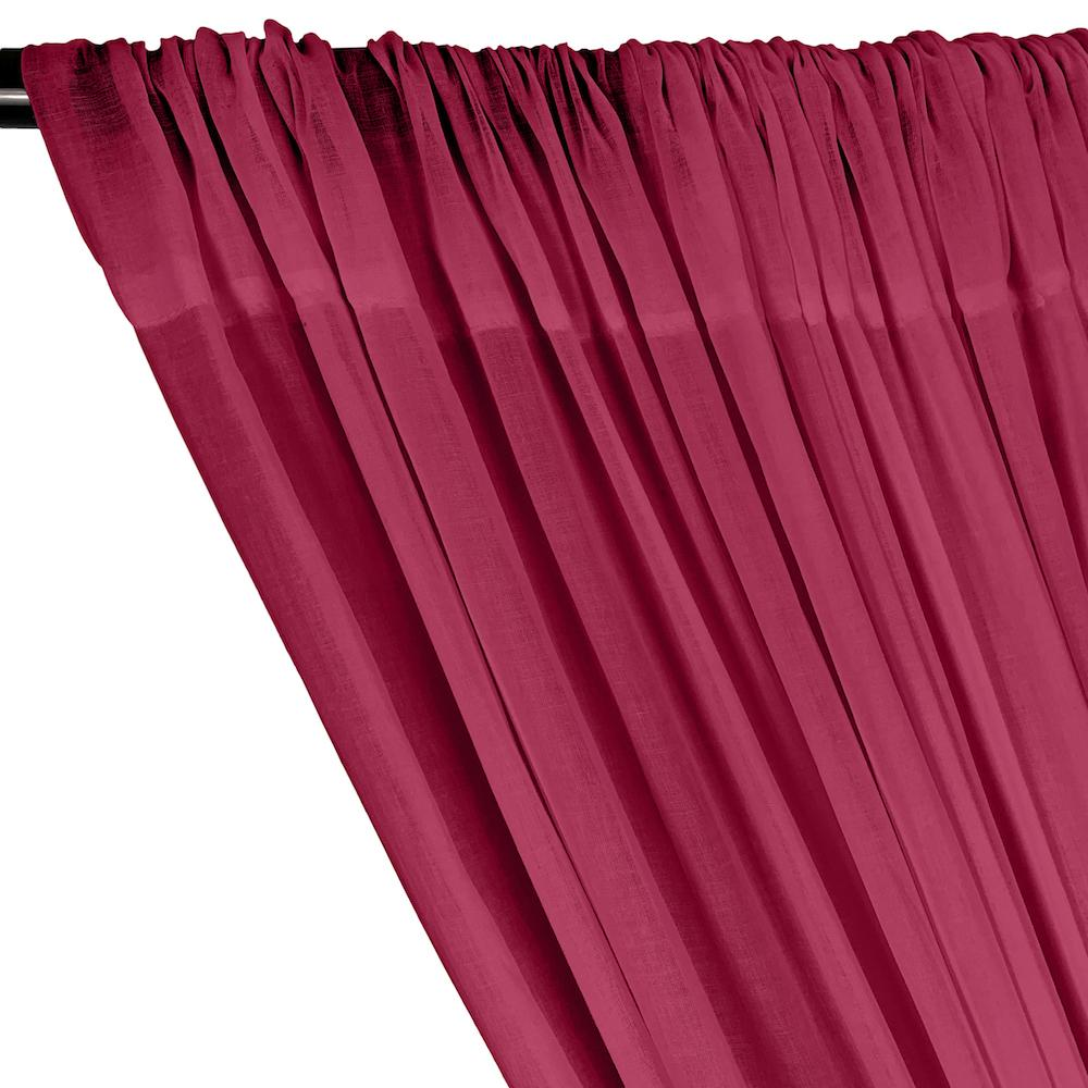 Cotton Voile Rod Pocket Curtains - Neon Fuchsia