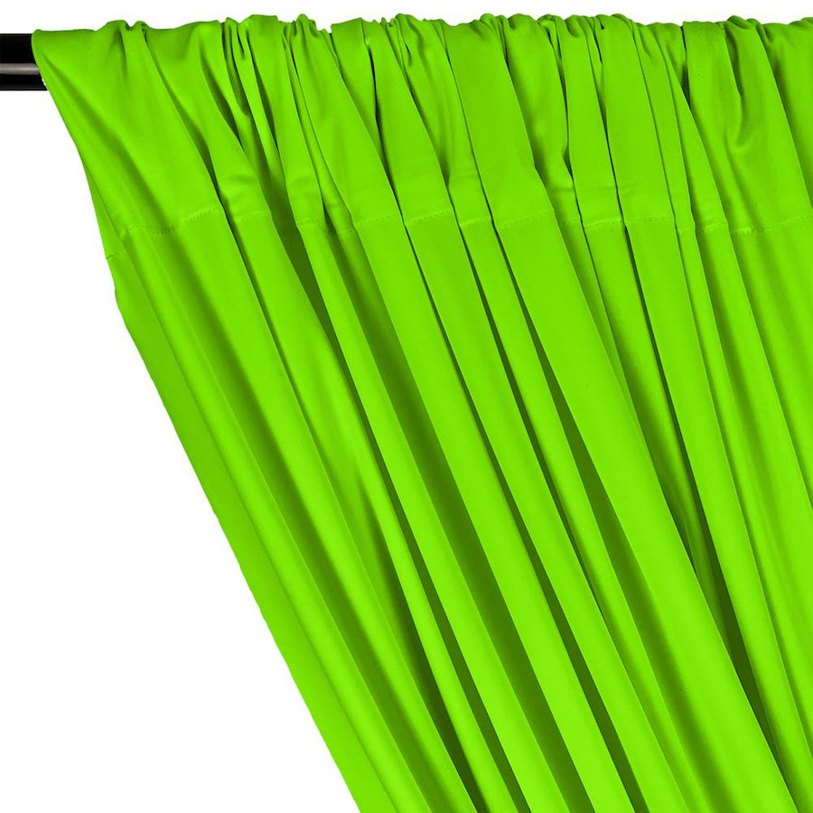 Matte Milliskin Rod Pocket Curtains - Neon Green