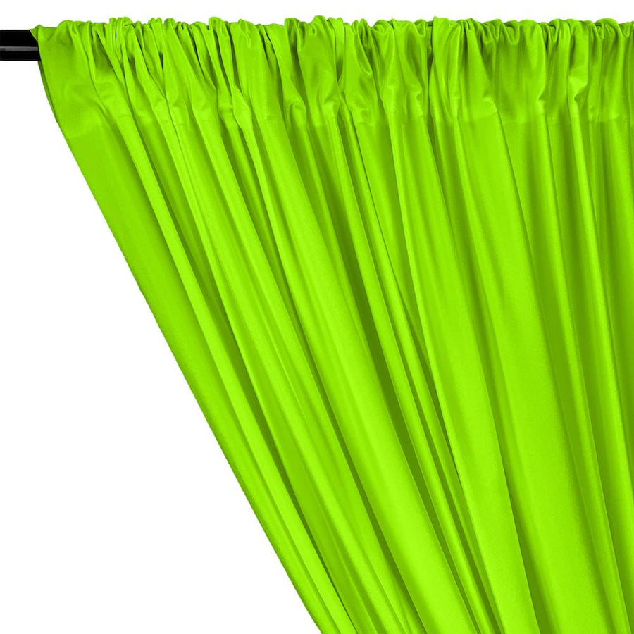 Shiny Milliskin Rod Pocket Curtains - Neon Green
