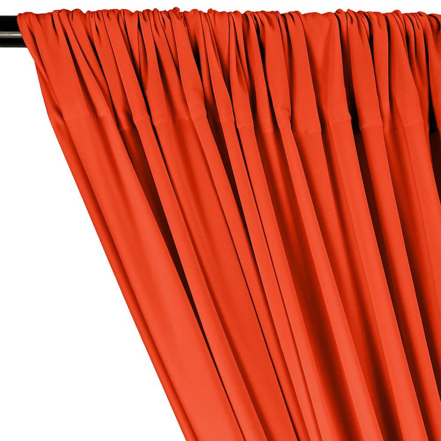 ITY Knit Stretch Jersey Rod Pocket Curtains - Neon Orange