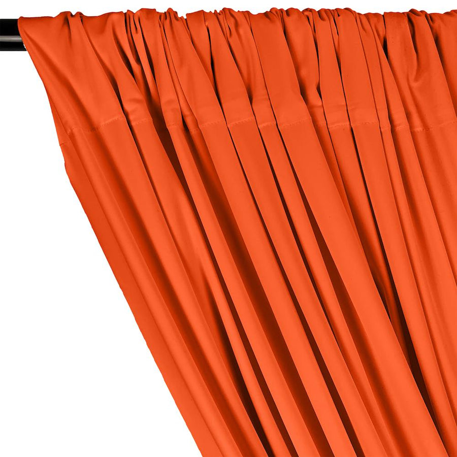 Matte Milliskin Rod Pocket Curtains - Neon Orange