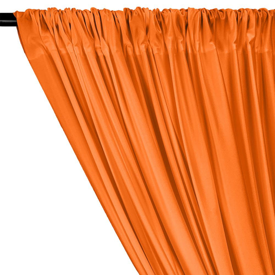 Shiny Milliskin Rod Pocket Curtains - Neon Orange