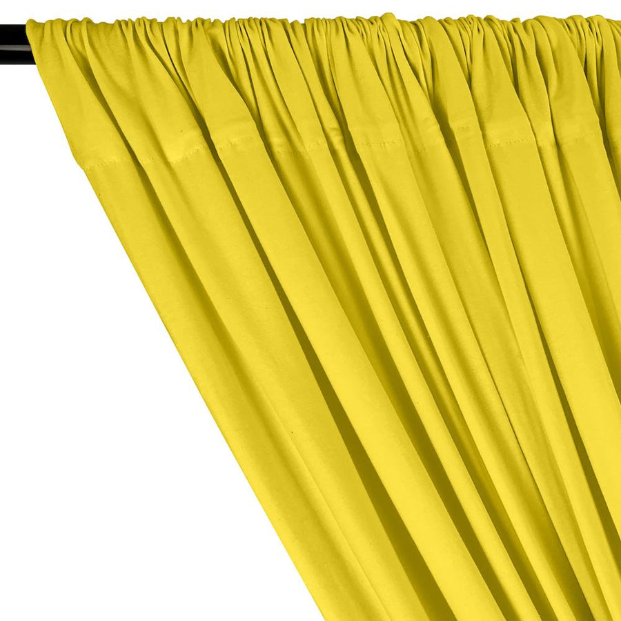 Cotton Jersey Rod Pocket Curtains - Neon Yellow