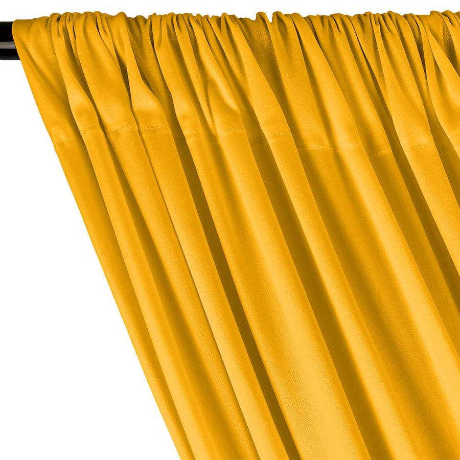 Interlock Knit Rod Pocket Curtains - Neon Yellow