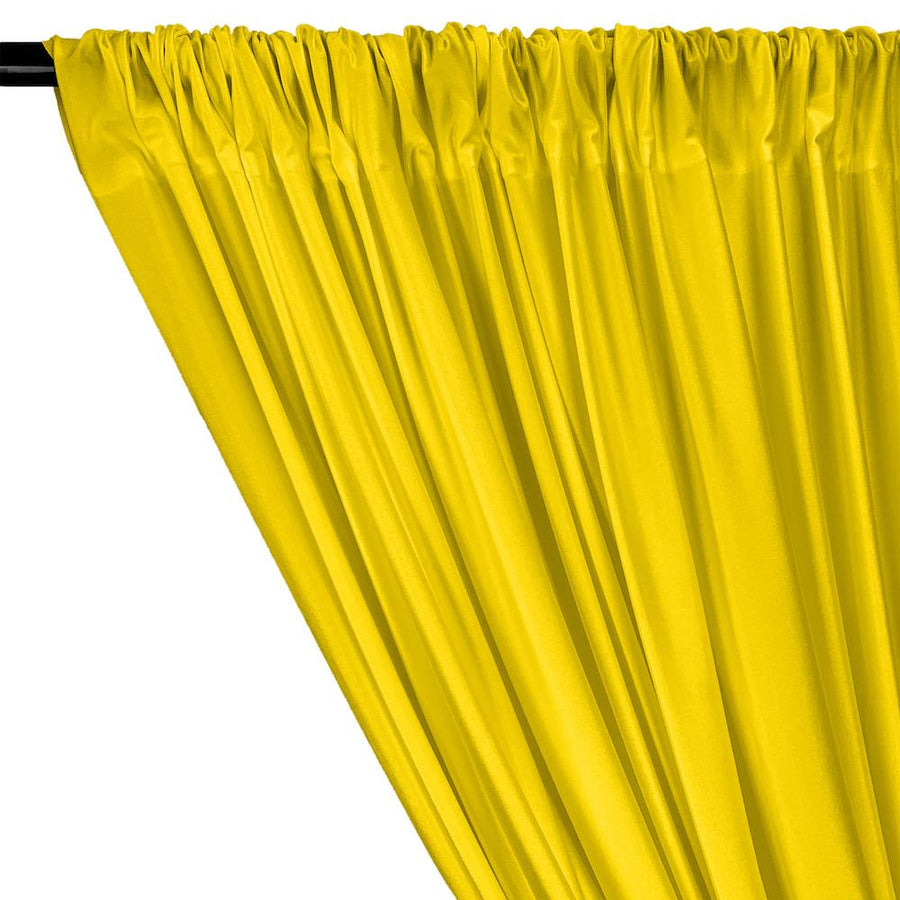 Shiny Milliskin Rod Pocket Curtains - Neon Yellow