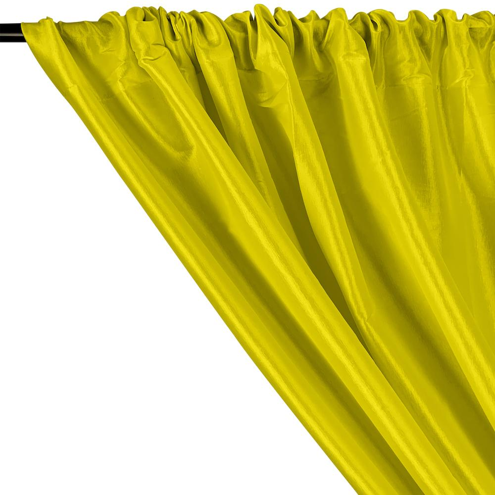 Stretch Taffeta Rod Pocket Curtains - Neon Yellow