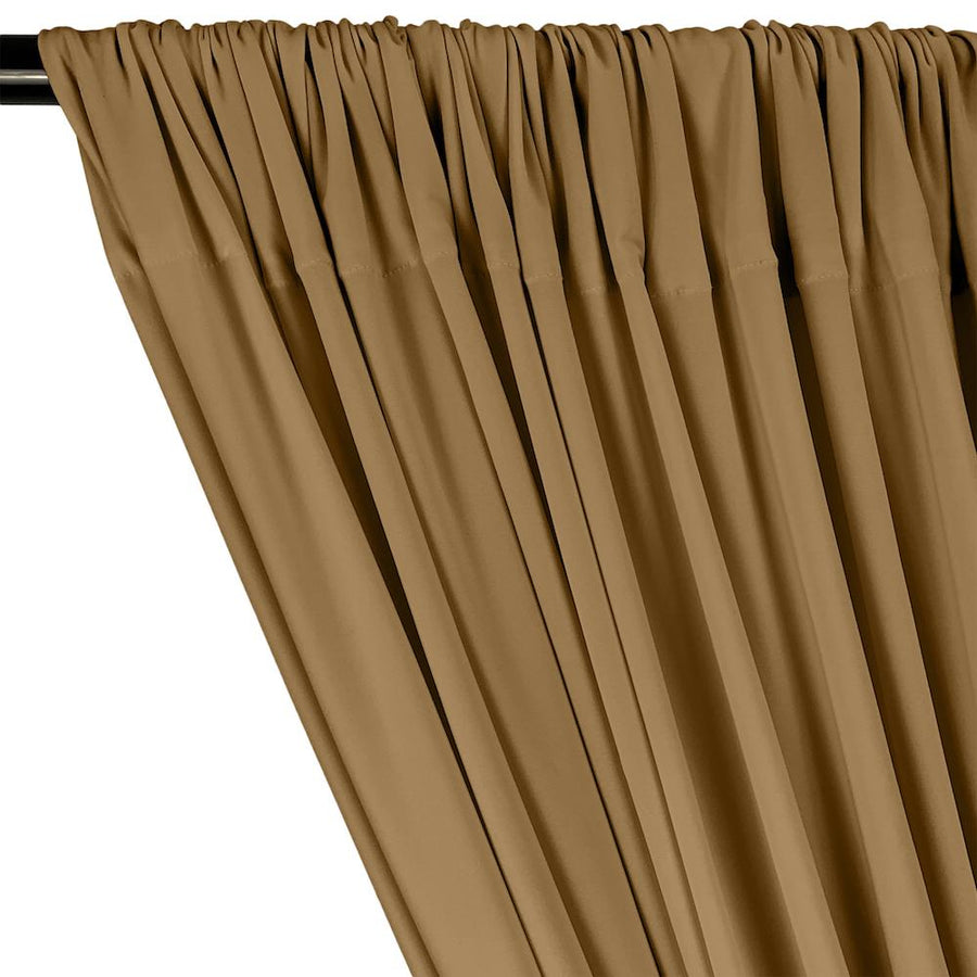 ITY Knit Stretch Jersey Rod Pocket Curtains - Nude