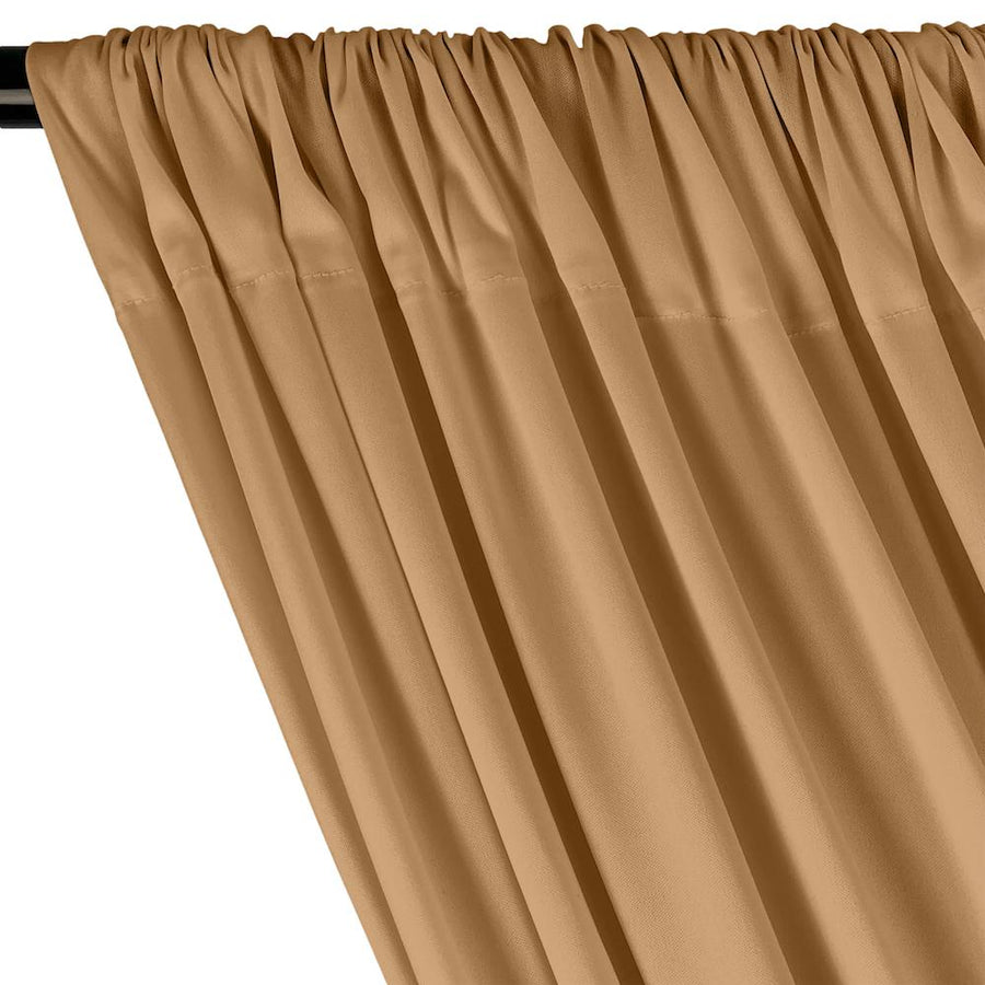 Interlock Knit Rod Pocket Curtains - Nude