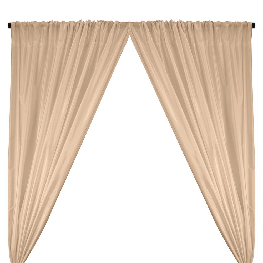 Polyester Taffeta Lining Rod Pocket Curtains - Nude