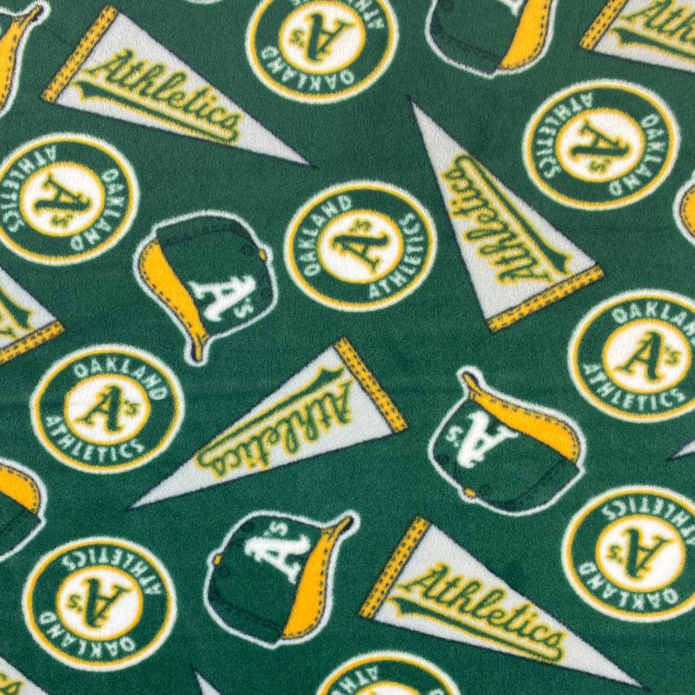 Oakland A's Athletics MLB Fleece Fabric