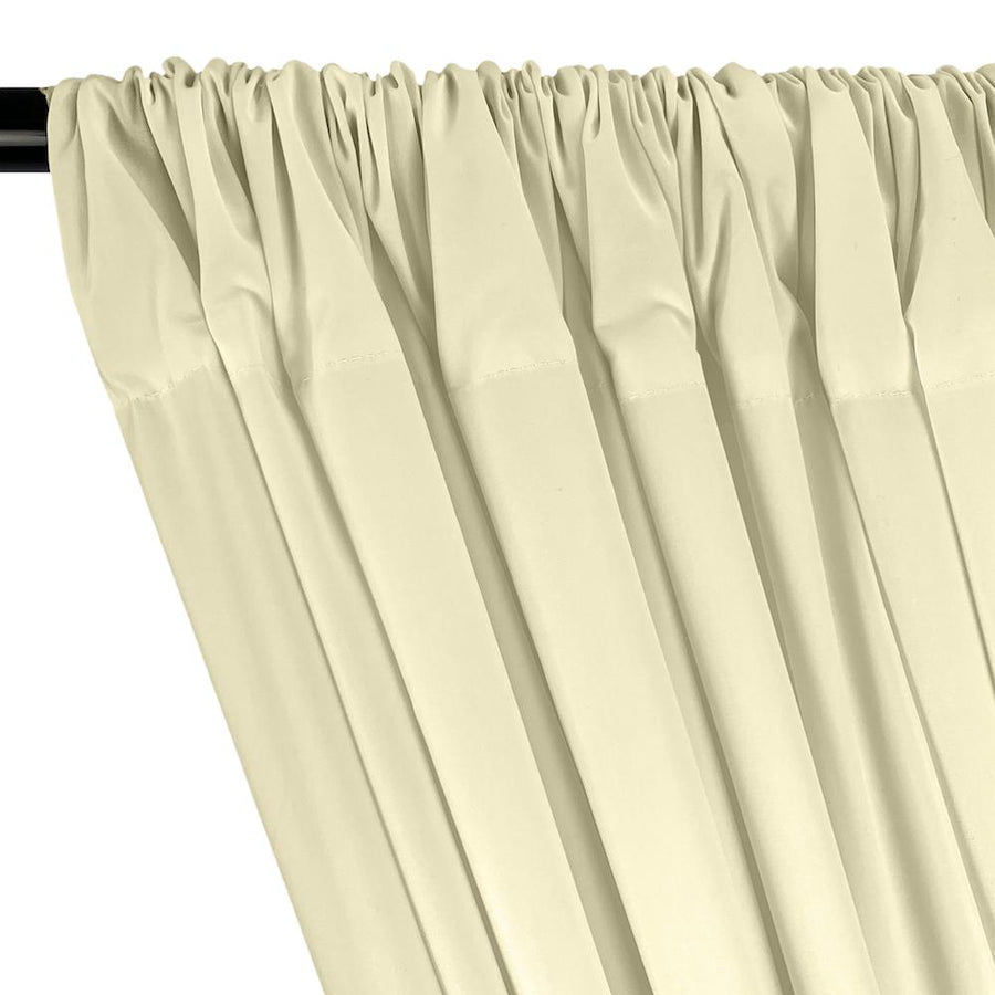 100% Cotton Broadcloth Rod Pocket Curtains - Off White