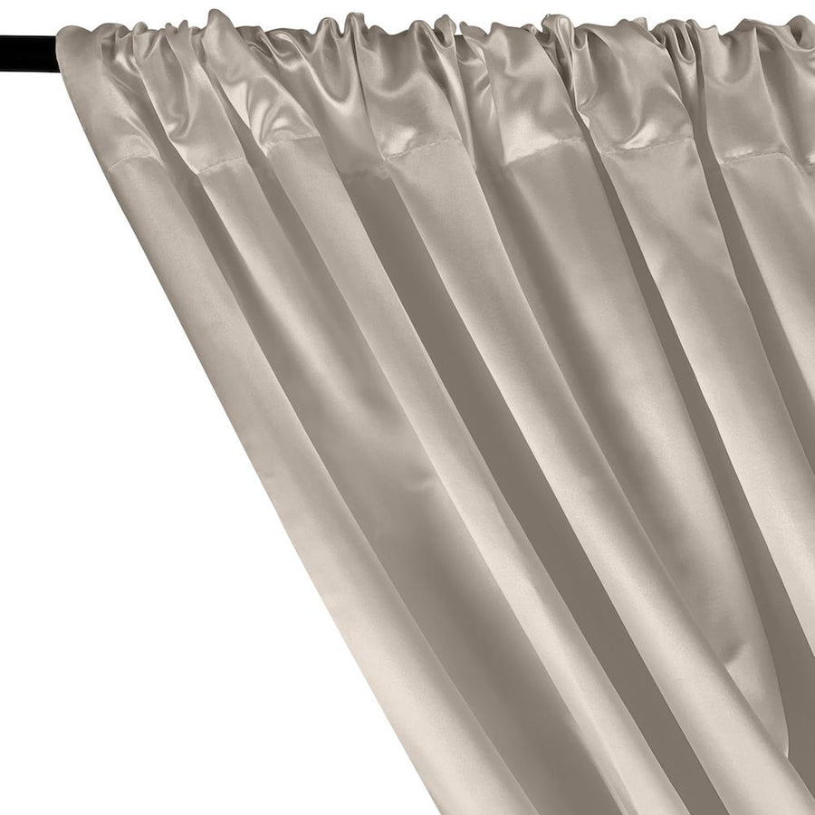 Bridal Satin Rod Pocket Curtains - Off White