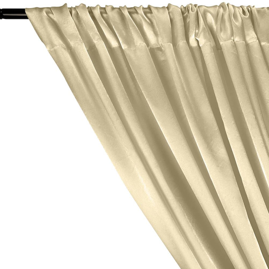 Charmeuse Satin Rod Pocket Curtains - Off White