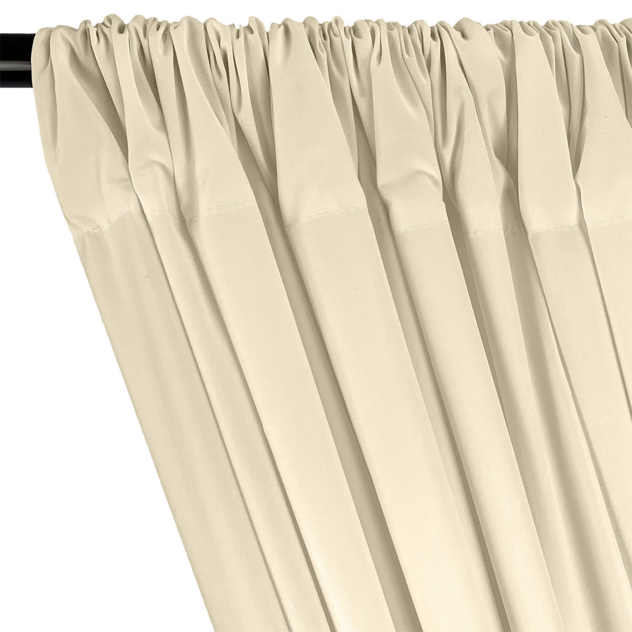 Cotton Polyester Broadcloth Rod Pocket Curtains - Off White