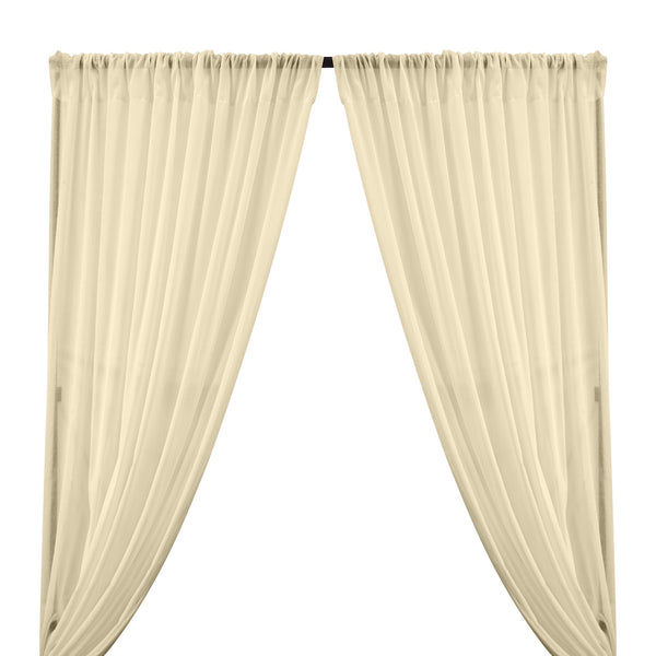 Cotton Voile Rod Pocket Curtains - Off White
