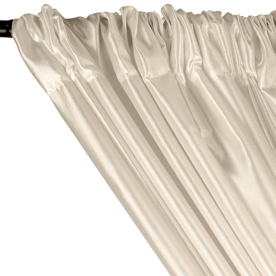 Extra Wide Nylon Taffeta Rod Pocket Curtains - Off White