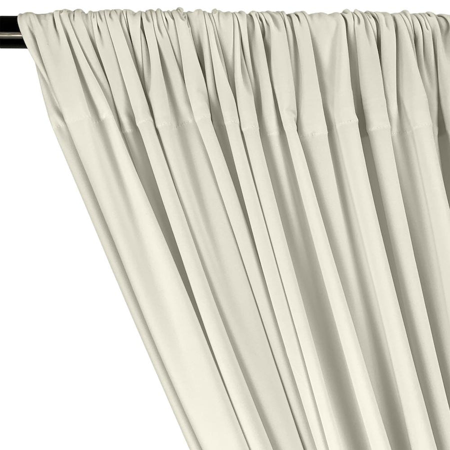 ITY Knit Stretch Jersey Rod Pocket Curtains - Off White