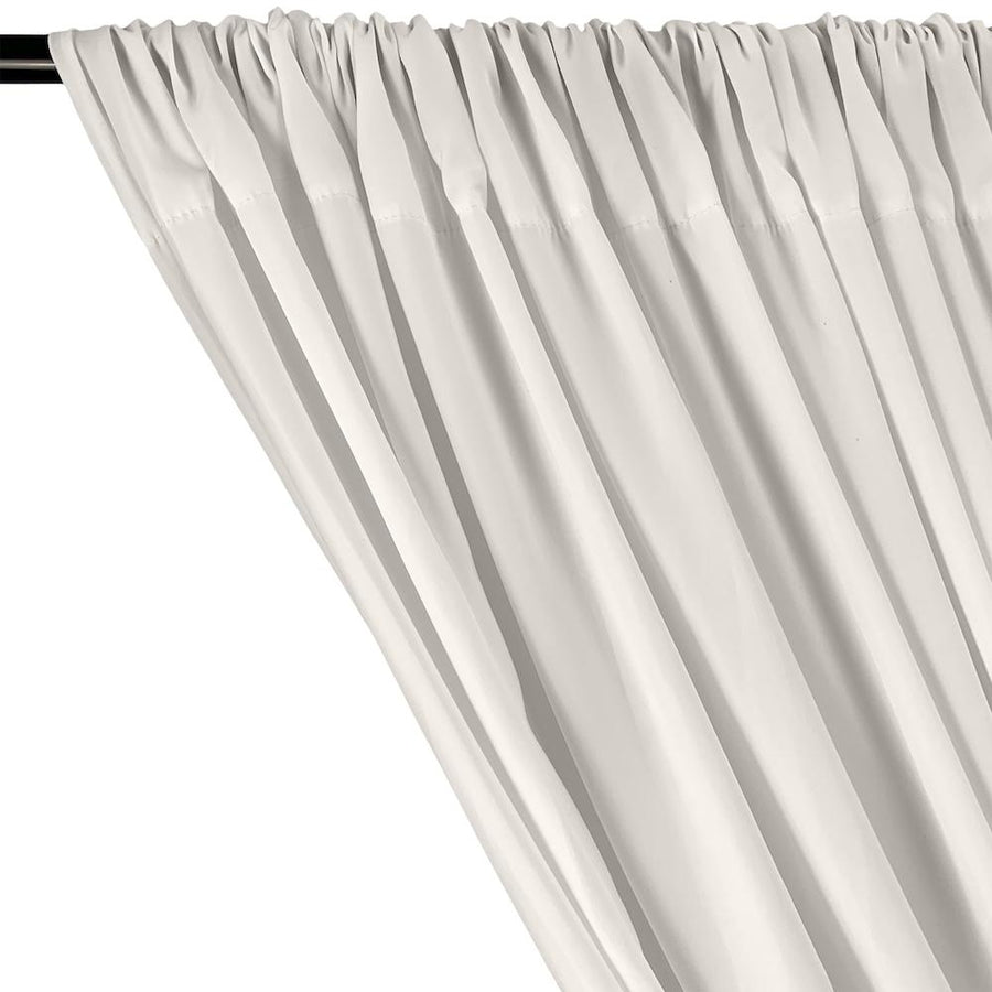 Peachskin Rod Pocket Curtains - Off White