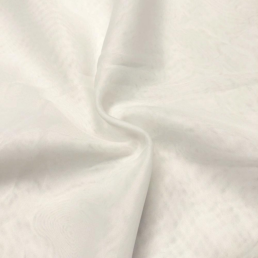 Sheer Voile Fire Retardant Rod Pocket Curtains - Off White