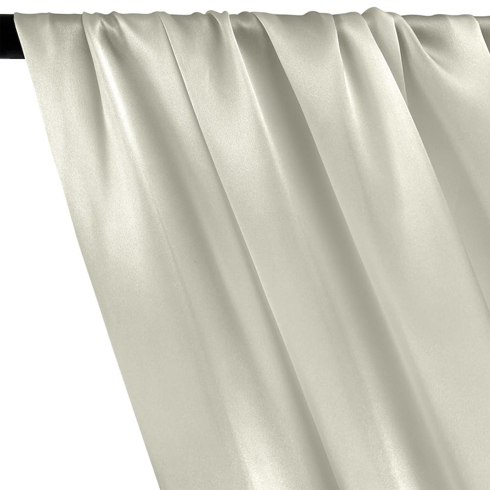Silk Charmeuse Rod Pocket Curtains - Off White
