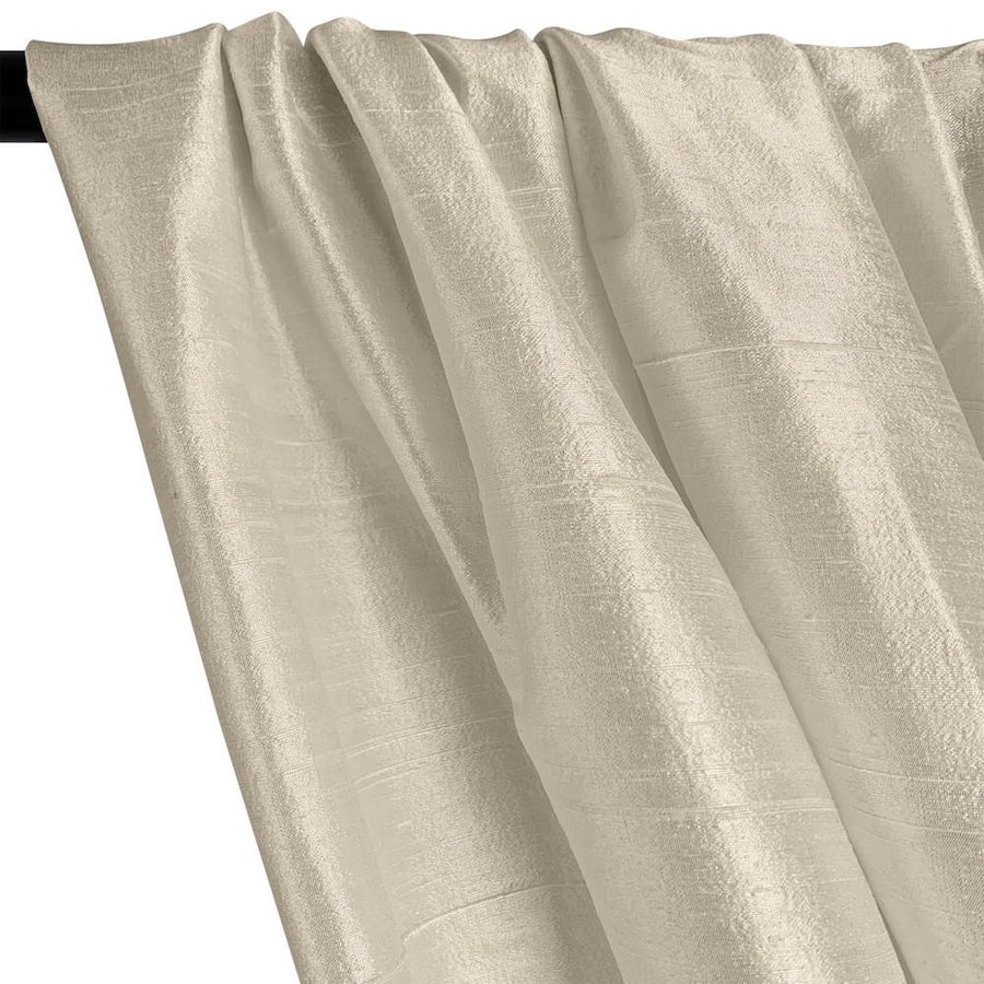 "Silk Dupioni (54"") Rod Pocket Curtains -  Off White"