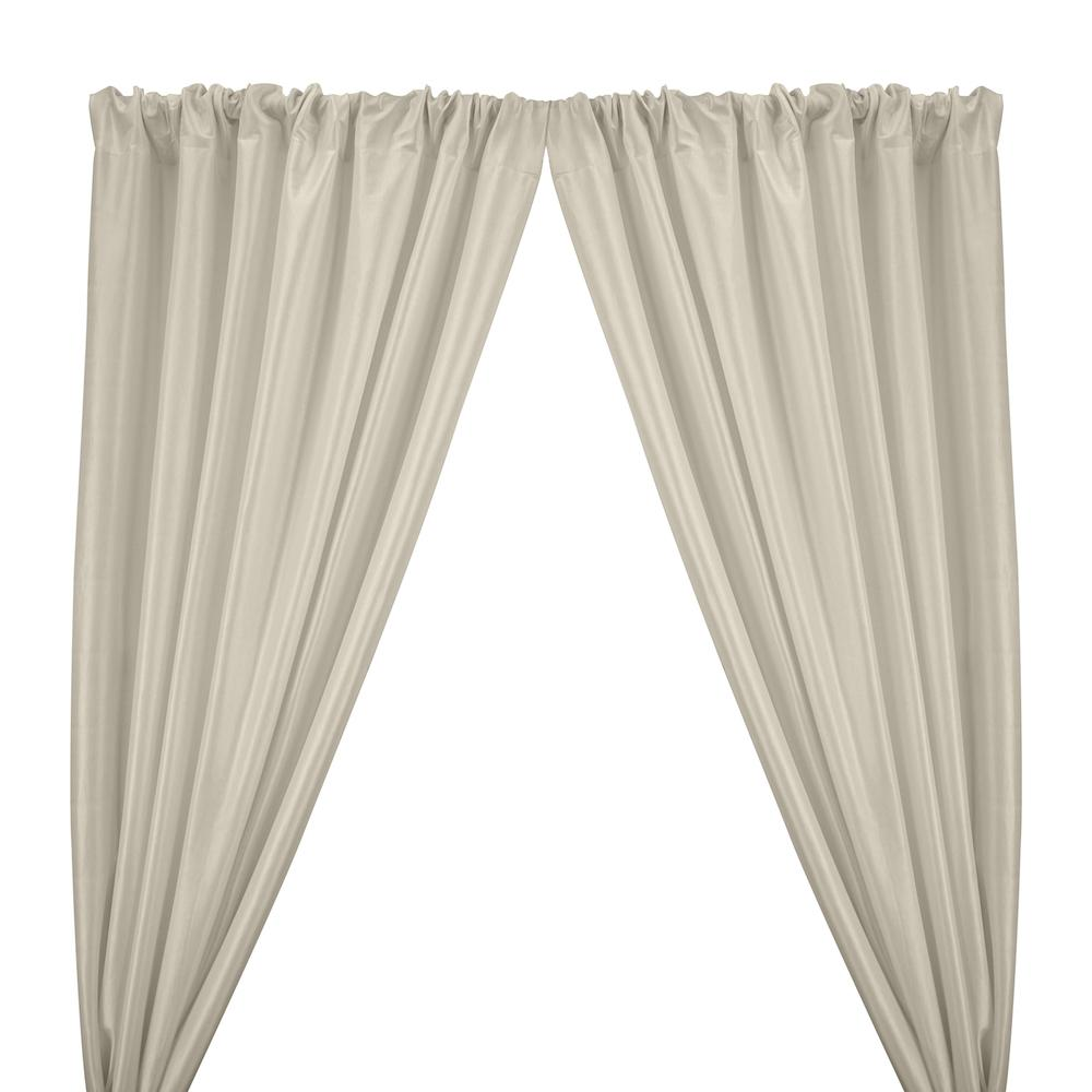 Stretch Taffeta Rod Pocket Curtains - Off White