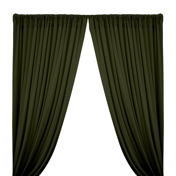 Cotton Jersey Rod Pocket Curtains - Olive