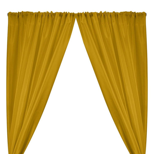Polyester Dupioni Rod Pocket Curtains - Olive 30