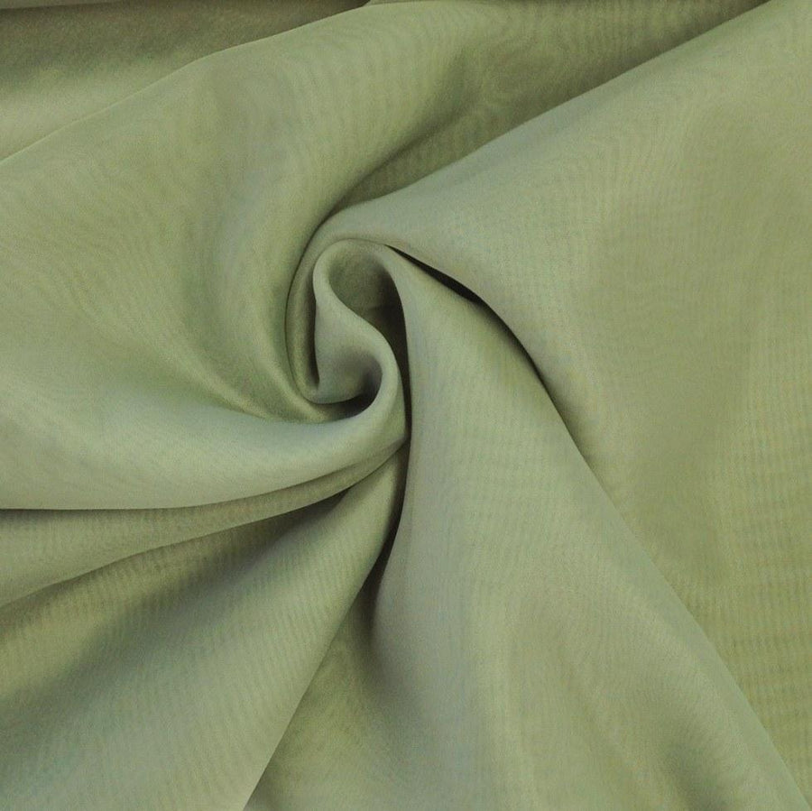 Sheer Voile Rod Pocket Curtains - Olive