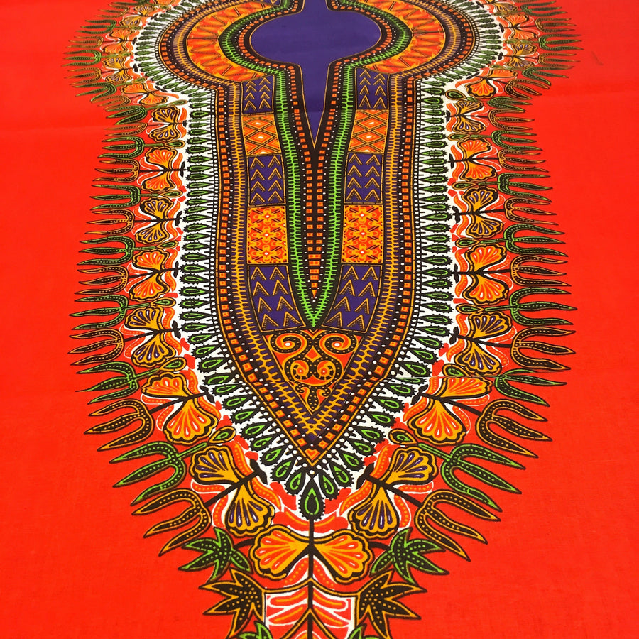 Dashiki Angelina African Print - Orange Fabric