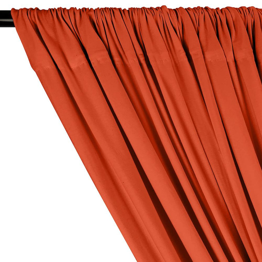 Cotton Jersey Rod Pocket Curtains - Orange