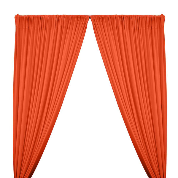 ITY Knit Stretch Jersey Rod Pocket Curtains - Orange