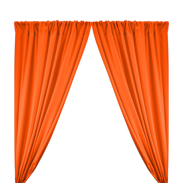 "Poplin (60"") Rod Pocket Curtains - Orange"